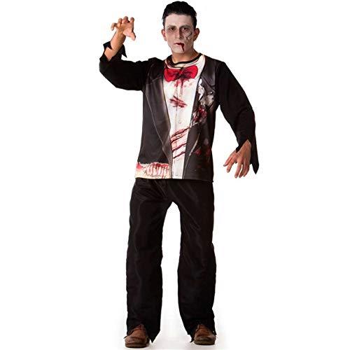 Fantasia de Halloween Aluno Zumbi Adulto Masculino M 40-42