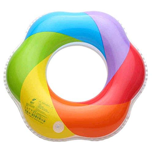 DEMU Aufblasbare Schwimmen Ring Erwachsene Pool Party Sicherheitshilfe Swim Ring Regenbogen (Außer Durchmesser 60cm)