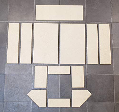 Feuerraumauskleidung A für Skantherm Ragani Kaminöfen - Vermiculite - 13-teilig