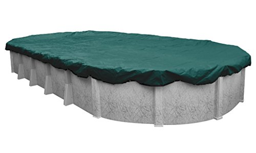 Pool Mate 391224-4-PM Commercial-Grade Winter Oval Above-Ground Pool Cover, 12 x 24-ft, Teal Green