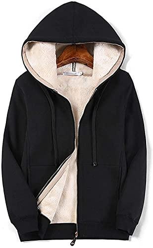 Lazutom Sudadera con capucha y forro polar polar polar para mujer, Negro, 34