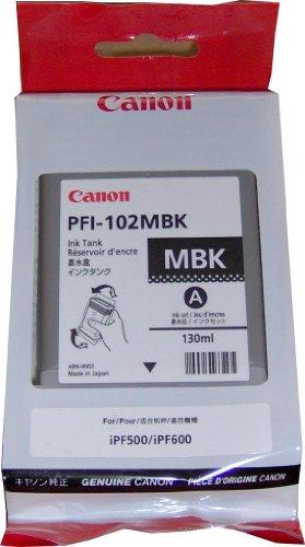 Canon PFI-102MBK ImagePrograf iPF500 510 600 655 750 755 760 765 130ML Ink Tank (Matte Black) in Retail Packaging