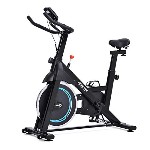 Bicicleta de interior con volante de inercia de 8 kg, accionamiento por correa magnética, para gimnasia en casa