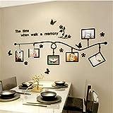 Acrílico etiqueta de la pared vinilo carteles calcomanía para imagen 3 tamaño extraíble marco de fotos familia pegatinas decoración del hogar sala de estar 54 * 100 cm