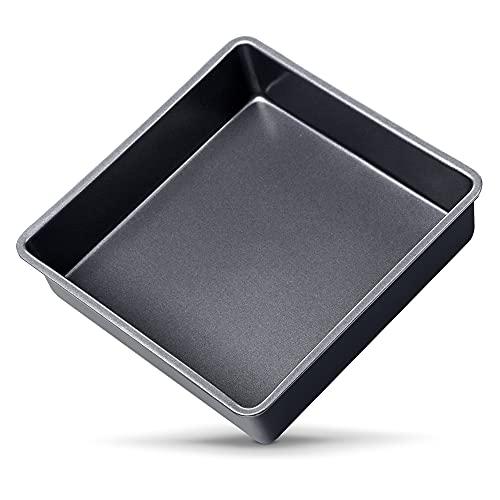 OJelay 6 Inch Square Cake Pan (Diagonal 8 Inch)Nonstick Bakeware Oven Baking Tray Carbon Steel Deep Dish Lasagna Pan