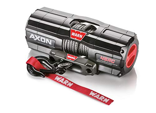 Fantastic Deal! WARN 101240 AXON 45RC Powersports Winch with Spydura Synthetic Cable Rope: 1/4 Diam...