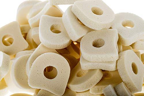 "Corn Pad Toe Separators – ¼"" Thick Soft White IP Foam Pads 1 1/8' x 7/8' (25 Pack)"