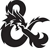 Dungeons and Dragons Logo Stickers Symbol 5.5' Decorative DIE Cut Decal for Cars Tablets LAPTOPS Skateboard - White Color