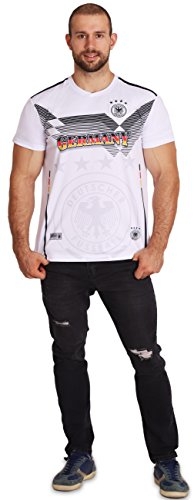 Men's Germany World Cup 2018 White Soccer Jersey with Country Name, Men Size XS