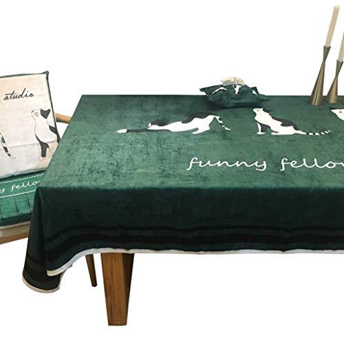 VIP Groen Tafelkleed Europese Moderne Minimalistische Eettafel Stof Rechthoekige Koffietafel Donker Groen Isolatie LITTLE