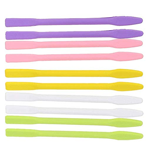 10 x Silikon-Rührstäbchen für Gesichtsmaske, Rührstäbe für Make-up, Flaschenöffnung, Küche, Senf Ketchup, Glas, Hand-Körperlotion, Grundierung, Nagellack, Lipgloss