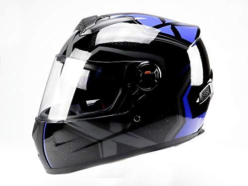 Integral-2 Integralhelm, Motorradhelm (M, Blau Schwarz)