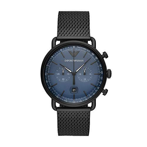 Emporio Armani heren chronograaf kwarts horloge met roestvrij stalen armband AR11201