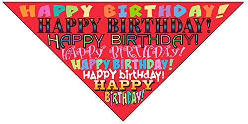 Stonehouse Collection Happy Birthday Dog Bandana - Dog Birthday Scarf Accessory - Great Dog Gift Idea (Medium to Large)