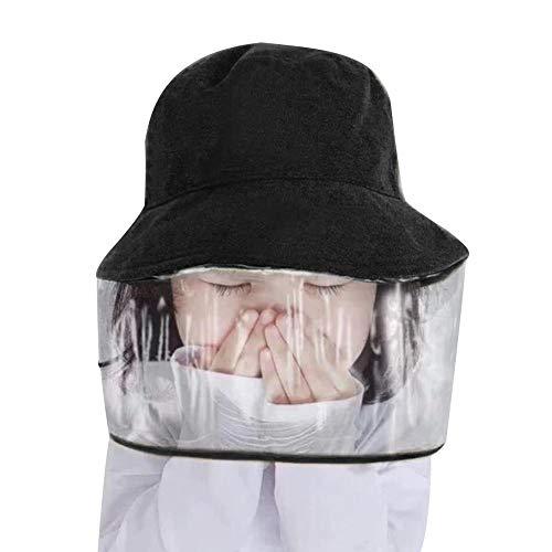 Kid Anti Spitting Beschermende Hoed Gezicht Veiligheid Anti-stof Peuter Kinderen Outdoor Beschermende Masker Emmer Hoed Zwart