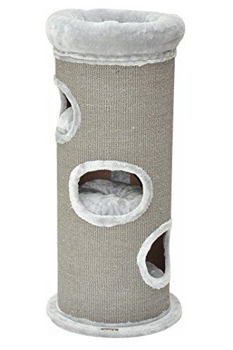 nanook Kratztonne Sisaltonne - Größe XL 110 cm - mit großen Katzenbett - standfest durcht Bodenplatte - grau