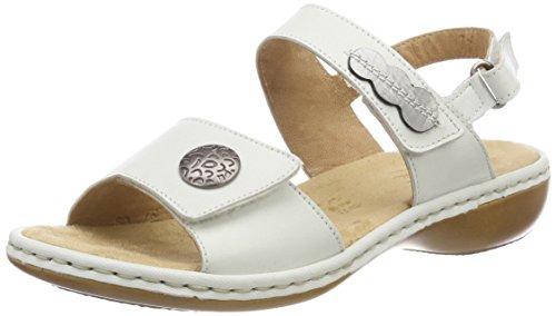 Rieker Damen 659Z3 Geschlossene Sandalen, Weiß (Offwhite/Altsilber), 40 EU