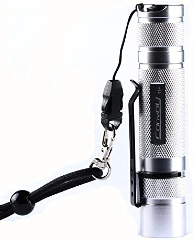 Ochoos S2+ Silver Xp-l Hi 7135x8 3 5modes EDC LED Flashlight 18650(Design  U6-4C)