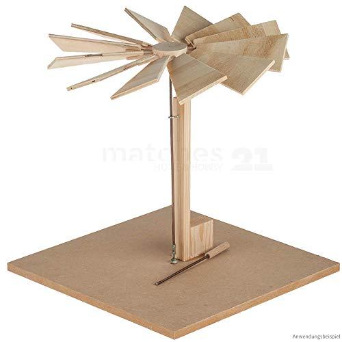 matches21 Weihnachtspyramide Wärmekraftmaschine für Teelichter Holzbausatz Bastelset Werkset für Kinder ab 11 Jahre