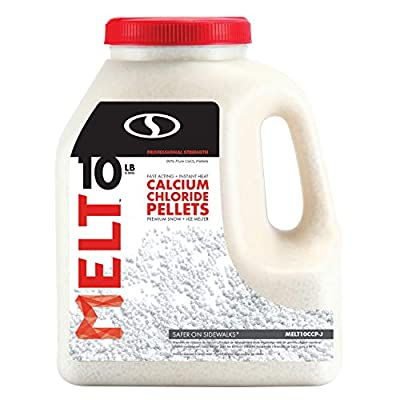 Snow Joe MELT10CCP-J Melt Calcium Chloride Pellets Ice Melter Jug, 10 lb