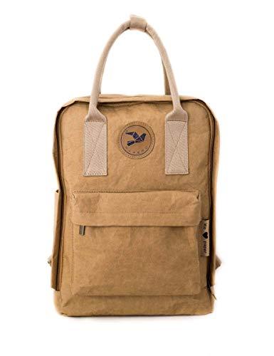 PAPERO ® aus Kraft-Papier | 2 in 1 Handtaschen Rucksack | robust, wasserfest ultraminimalistisch -Lynx- Vegan nachhaltig Damen Kleiner Backpack Platz für Laptop| FSC® Zertifiziert |, Urban Style