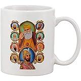 Keramische Kaffeetasse 10 Sikh Gurus