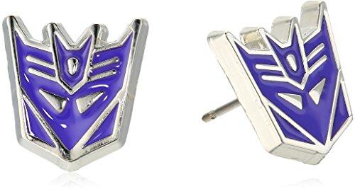 Transformers Post Decepticon Stainless Steel Stud Earrings