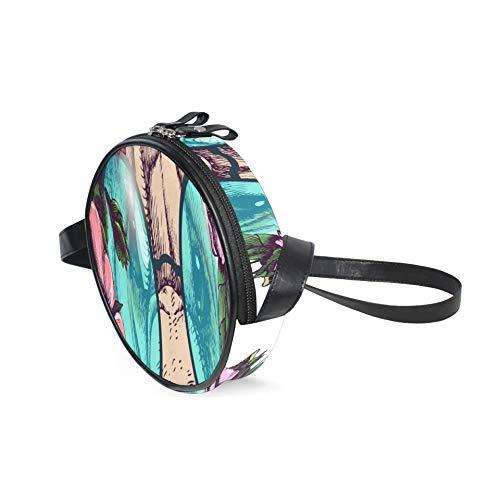 AQQA Pequeño bolso bandolera para teléfono móvil Hippie Sharpei Guirnalda de rosas...