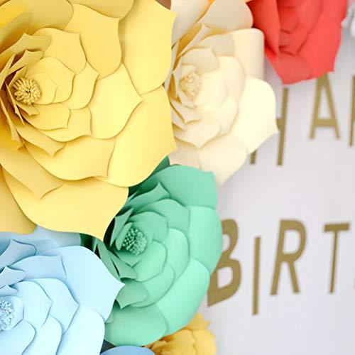 TENDYCOCO 30cm Kunstpapier Bloem Handgemaakt Papier Bloem voor Bruiloft Party Dessert Station Bruids Evenementen Decoratie (Beige)