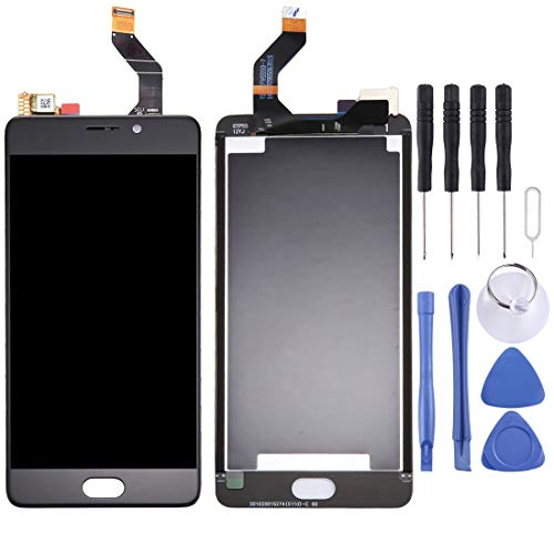 Corresponding Model for Meizu M6 Note/Meilan Note 6 LCD Screen and Digitizer Full Assembly Accessory for Phone (Color : Black)