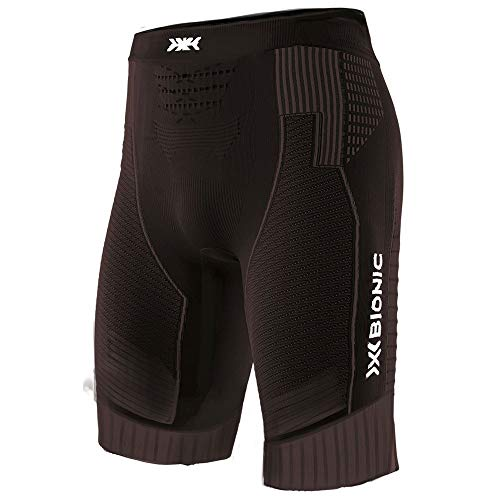 X-Bionic Effektor G2 Run, Pantaloncini da Corsa Uomo, Opal Black/Artic White, L