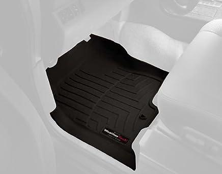 Black WeatherTech Custom Fit Front FloorLiner for Select Saturn//Buick//GMC//Chevrolet Models