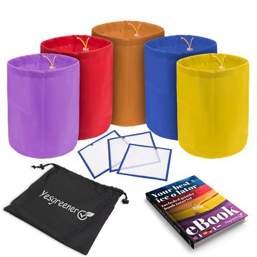 YesgreenerTM✮ Marca francesa – Bolsa Ice O Lator 20 L | Lote de 5 + 3 tamies de secado, incluye libro electrónico | Ice O Lator Bag & Bubble Bag | Bolsa de extracción de alta calidad