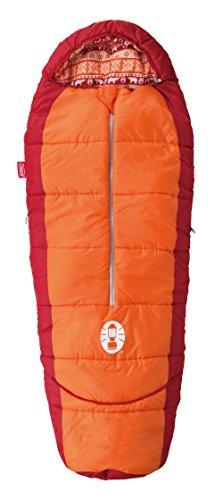 コールマン(Coleman) 寝袋 キッズマミーアジャスタブル C4 使用可能温度4度 マミー型 オレンジ 2000027271