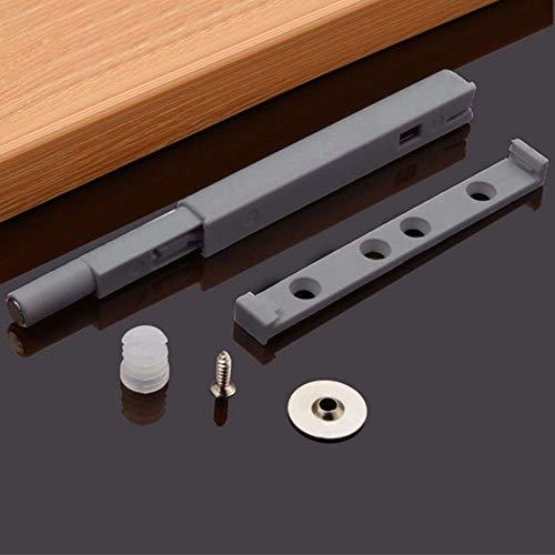 Yener Home Lade Keuken Hardware Deurkast Beschermen Demper Buffer Eenvoudig te installeren Magnetische punt Duw open kast vangst ruisonderdrukking, grijs