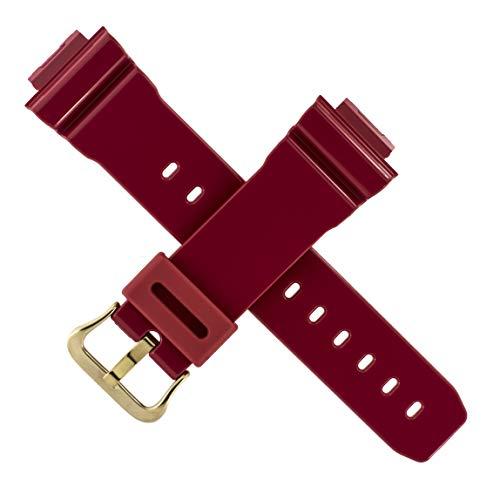 Correa de reloj Casio DW-6930A GW-M5630A DW 6900 GW M5610 rojo dorado