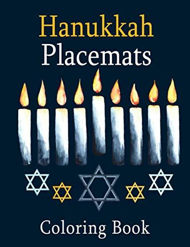 Hanukkah Placemats Coloring Book: A Jewish Holiday Gift of 30 Engaging Hanukkah Images