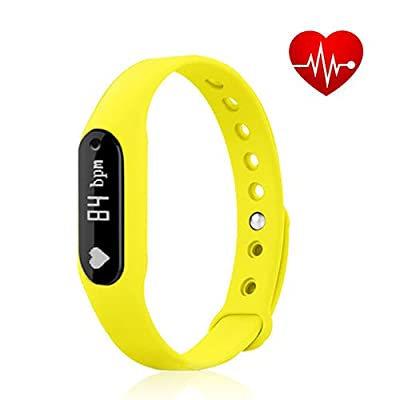 Heart Rate Monitor Fitness Tracker, Vcall C6 Waterproof Bluetooth Activity Tracker Smart Bracelet Band Wristband With OLED Display Sports Pedometer Health Sleep Monitor for iOS Android