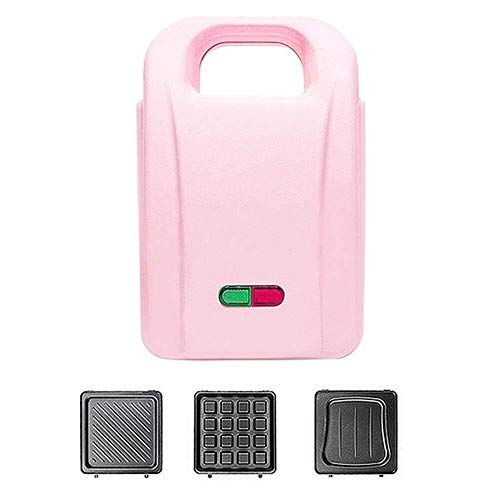 Gaufrier Mini-ronde électrique portable crêpière ménagers Gaufrier machine avec indicateur lumineux for Pancakes individuel - Chauffage automatique 650W gaufrier professionnel