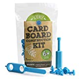 JumpOff Jo Cardboard Construction Kit 36 Cardboard Screws, 1 Screwdriver, 1 Cardboard Saw – for STEM, Engineering, Arts, and More, Ages 6+