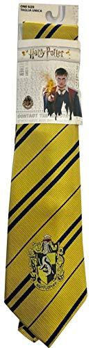 Sabor Cravatta Adulto Casa TASSOROSSO con Stemma Originale 140cm Harry Potter Hufflepuff