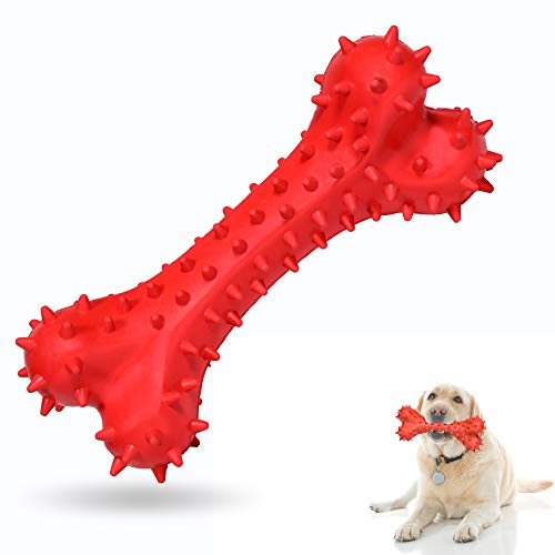 EpetsLove Dog Chew Toy for Aggressive Chewers Durable Dog Bone Toy,NonToxic Natural Rubber Teeth Cleaning Chews Toys Playing Interaction Training for Small Medium Large Dog