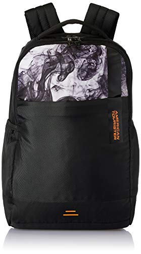American Tourister Spin 49 cms Black Laptop Backpack (FS0 (0) 09 002)