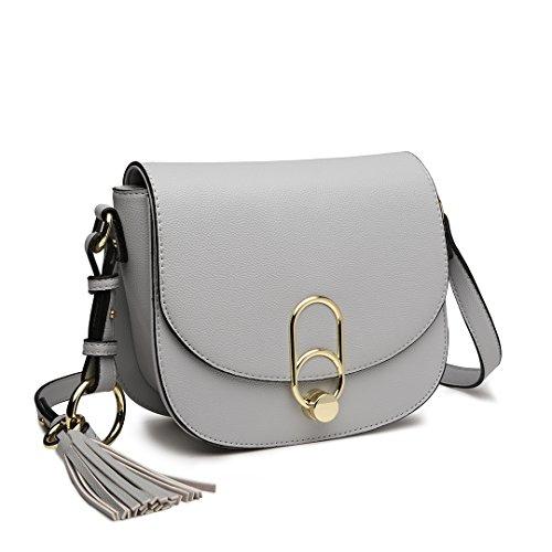 Miss Lulu Women Cross body Bag Fashion Tassel Decoration Zipper Handbags...