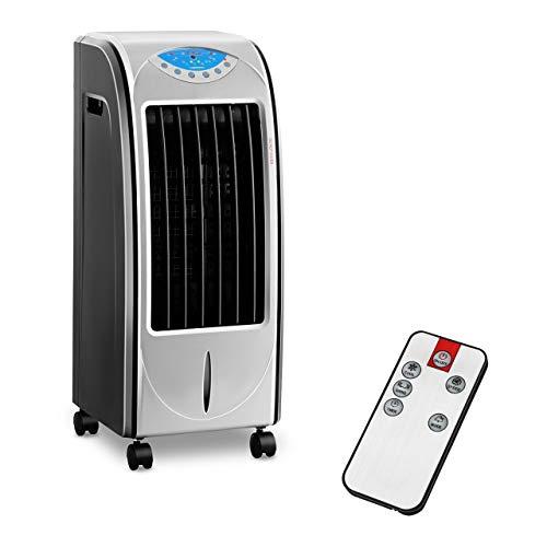 Uniprodo Uni_Cooler_01 Luftkühler mit Wasserkühlung 4-in-1 mobiles Kühlgerät ohne Abluftschlauch mit Heizfunktion 6 l Luftbefeuchter Lufterfrischer