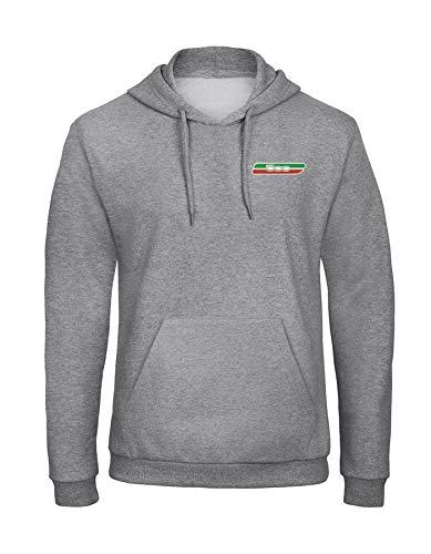 orestamazon FIAT 500 Italien Auto Besticktes Logo Auto Kaputzenpullover Hoodie Premium-Qualität -7029 - GRAU