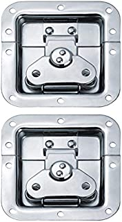 EWONICE 2Pack Heavy Duty Spring Loaded Recessed Latch, 10 Hole Medium Butterfly Twist Latch Replacement for Road Flight Case