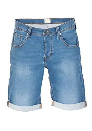MUSTANG Herren Jeans Sweat Short Chicago Kurze Stretch Hose Real X Regular Fit - Blau - Grau, Größe:W 40, Farbe:Light Blue (312)