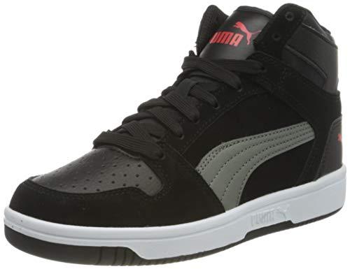 PUMA Rebound Layup SD JR Sneaker, Black-Ultra Gray-high Risk Red Weiß, 39 EU