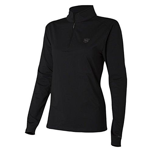 Wilson Pullover Performance für Golferinnen, Thermal Tech, Polyester/Elasthan, schwarz, Gr. L, WGA700313